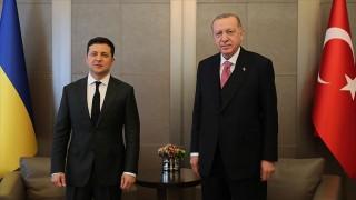 Cumhurbaşkanı Erdoğan ve Zelenskiy bir araya geldi