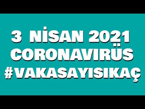 3 Nisan 2021 Güncel Koronavirüs Tablosu